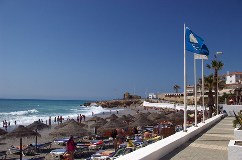 Blue Flags Back At Burriana And Torrecilla Beaches In Nerja