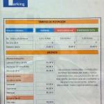 Los Huertos/Carabeo Nerja Car Park Charges