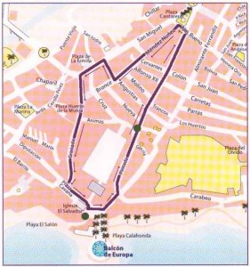 Nerja Semana Santa Procession Map