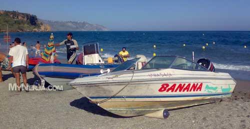 Both Boats Parked On Burriana Beach