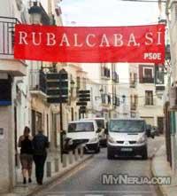 PSOE Banner Nerja