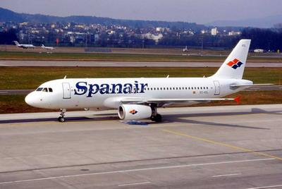 spanair jet