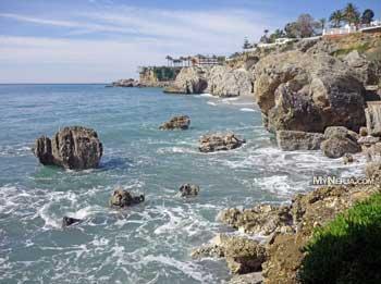 Rocks Along The Shore From Carabeo Towards The Balcon De Europa