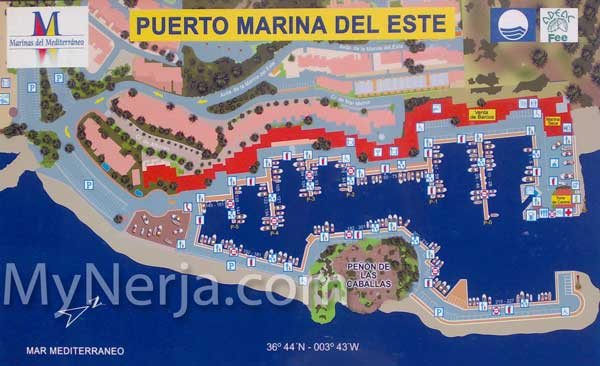 Map of Marina del Este