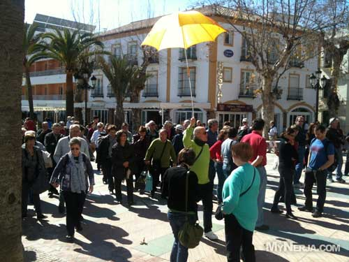 tour group on the balcon de europa nerja