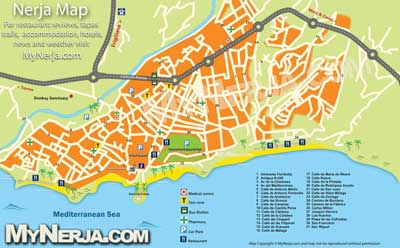 Mapa de Nerja title=