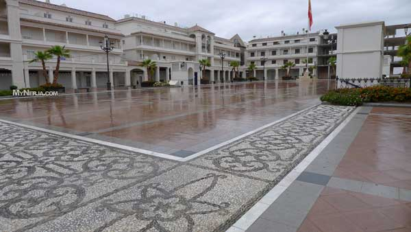 Rainy Plaza España Nerja 29th April 2012