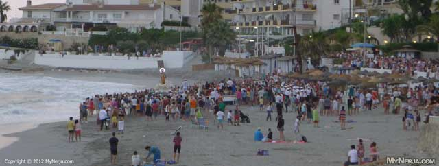 Virgen del Carmen at Torrecilla Beach
