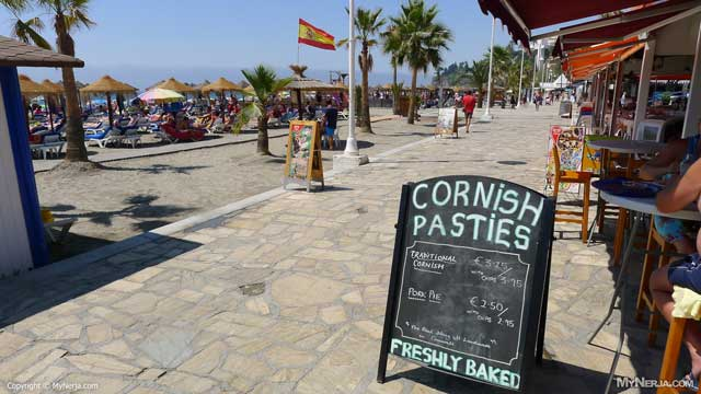 Cornish Pasties And Pork Pies At Burriana Beach In August