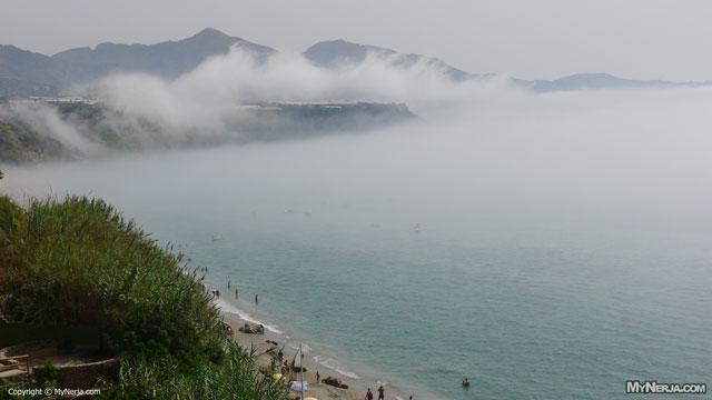 Sea Mist Rolls In Over Maro - August 2012