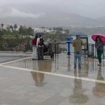 Photos Of The Rain In Nerja Today