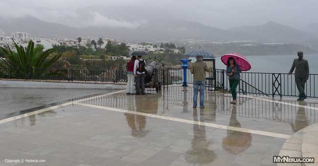 Rain in Nerja Today on the Balcon