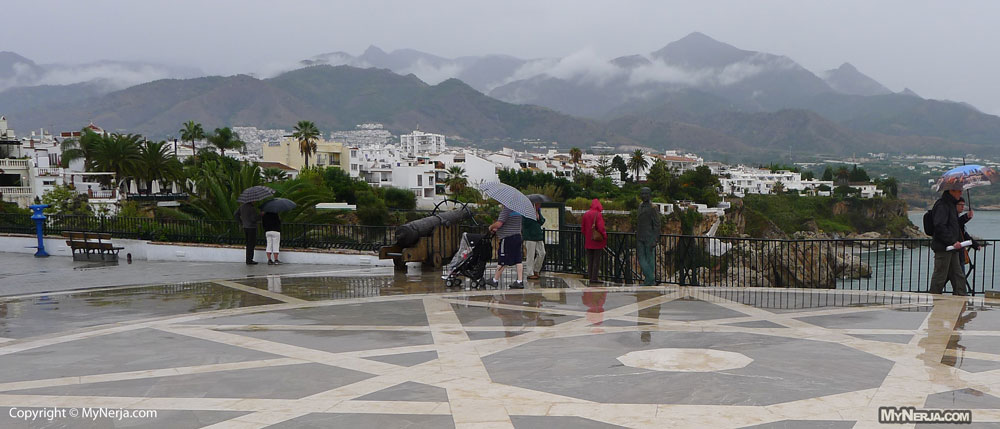 Rainy Day On The Balcon de Europa Nerja, October the 20th 2012