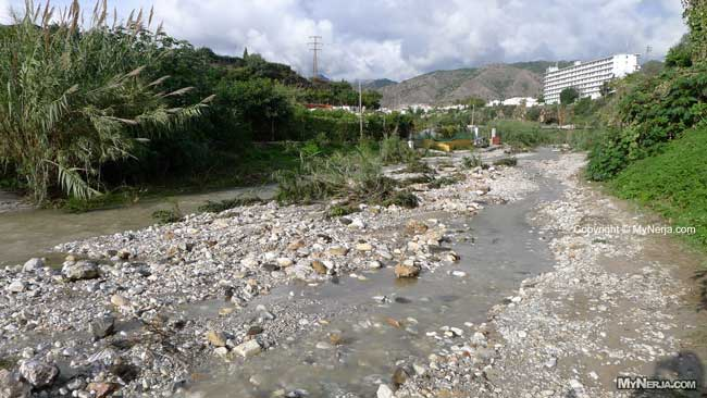 Road Washed Away On The Rio Chillar