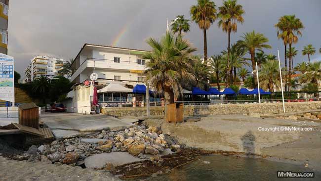 Sand Washes Away At The Ramp At Torrecilla Beach