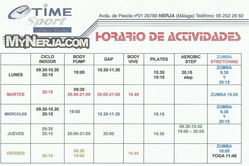 Time Sport Fitness Center Gymnasium Amp Health Club Nerja