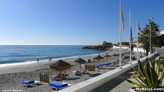 Torrecilla Beach Nerja On New Years Day 2013