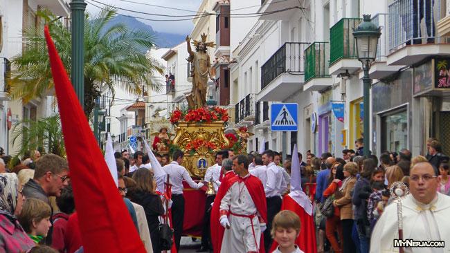 Nerja Easter Sunday Parade Ends Semana Santa