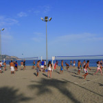 Beach Volleyball At Playa Burriana Nerja