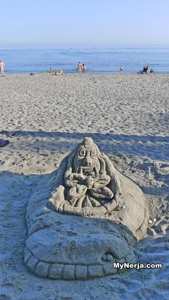 Sand Sculpture Torrecilla Beach Nerja