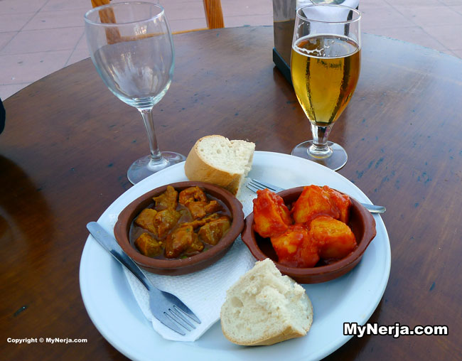 Tapas At Burriana Beach Nerja