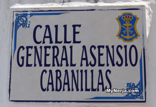 Calle General Cabanillas Nerja