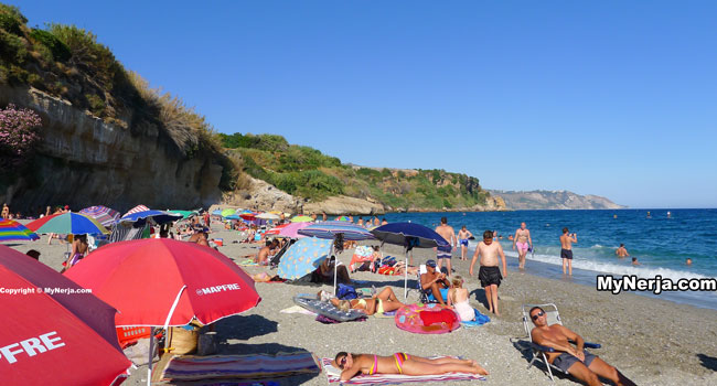 Burriana Beach Nerja August
