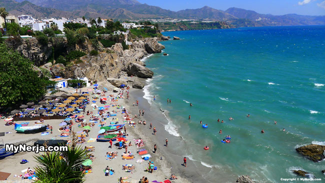 Calahonda Beach From The Balcon de Europa Nerja