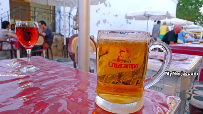 Cold Beer At Italian Cafe Nerja