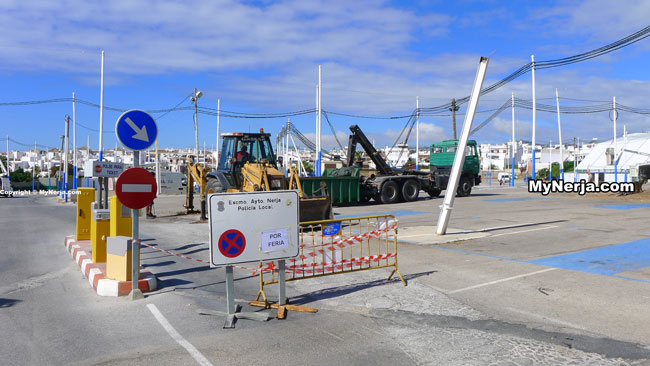 Los Huertos Car Park Closed For Nerja Feria