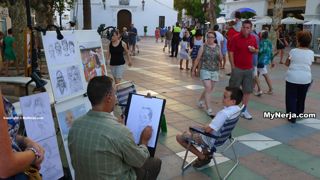 Caricature On The Balcon de Europa Nerja