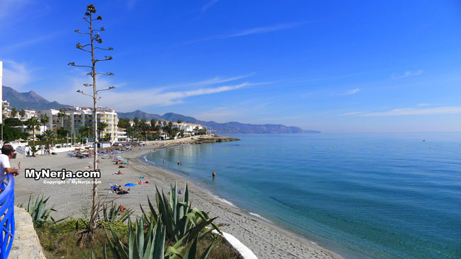 Torrecilla Beach Nerja In October