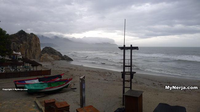 Calahonda Beach Nerja, Christmas Day 2013