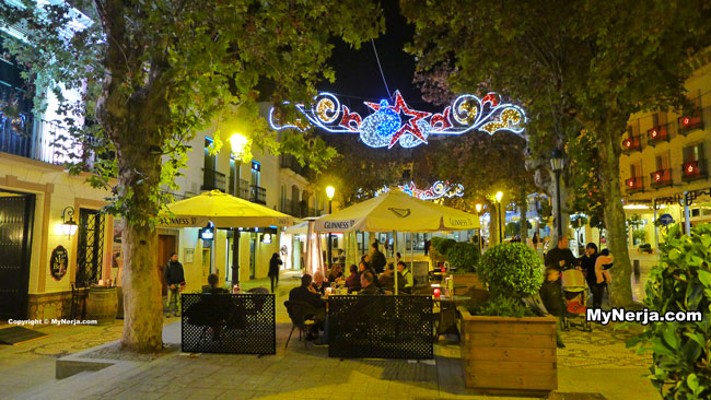 Plaza Cavana Nerja Christmas Lights