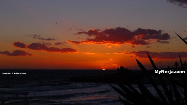 Sunset At Torrecilla Beach Nerja