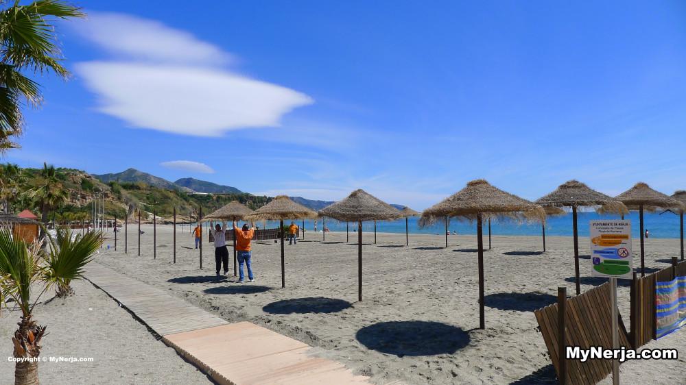 Beach umbrellas burriana