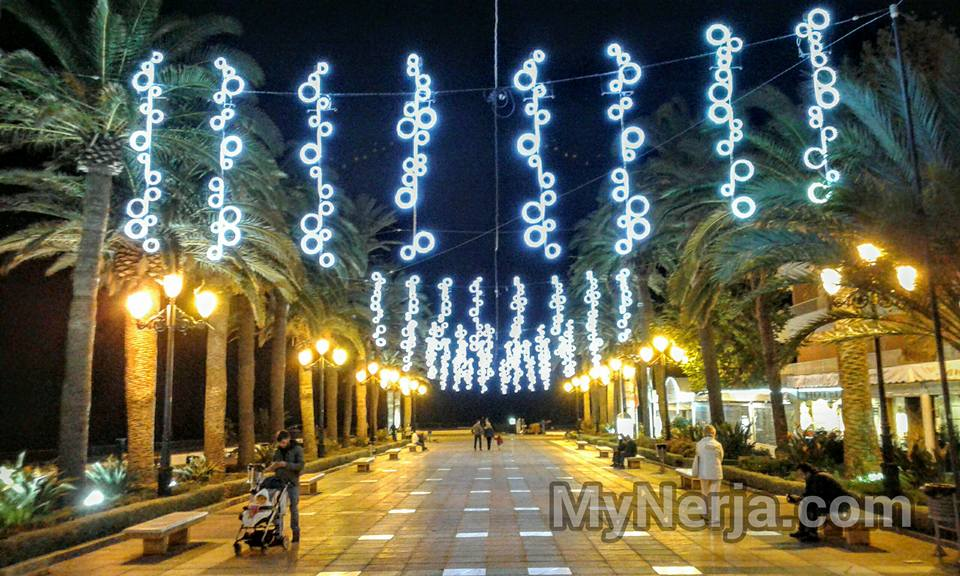 Christmas Lights At The Balcon de Europa, Nerja