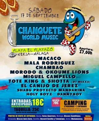 Chanquete World Music Festival Nerja 2016