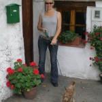 Nina and Rescue Dog Chico